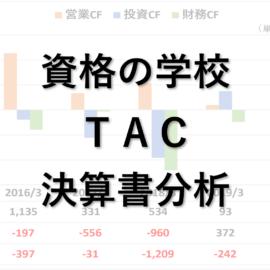 資格の学校TAC決算書分析