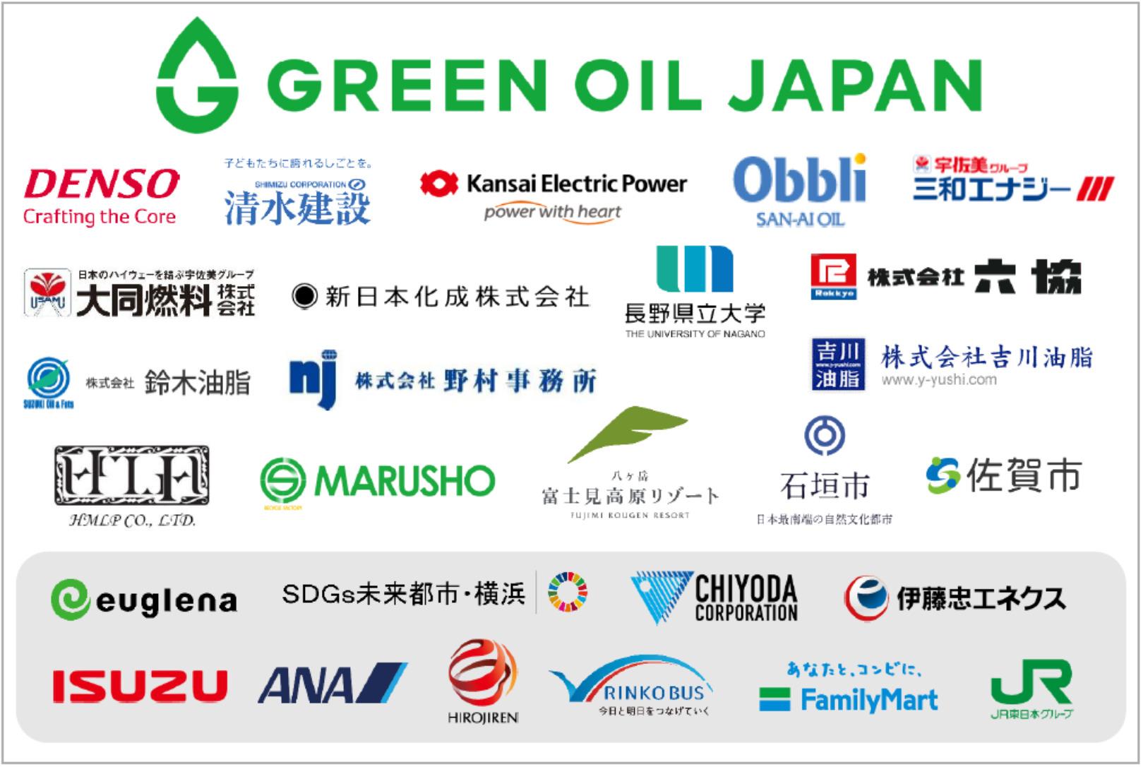 ユーグレナ:GREEN OIL JAPAN 企業一覧